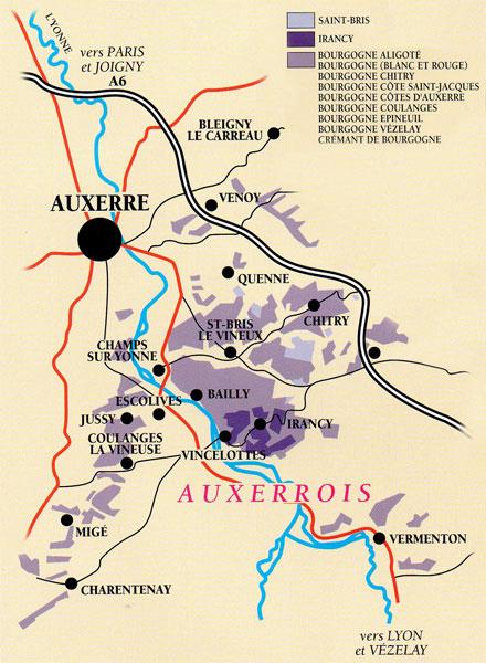 carte Auxerrois